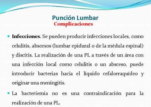 Infecciones tras PL
